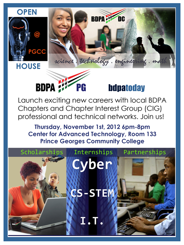 Open House for BDPA Prince George's County - Click here to download this year's flyer!