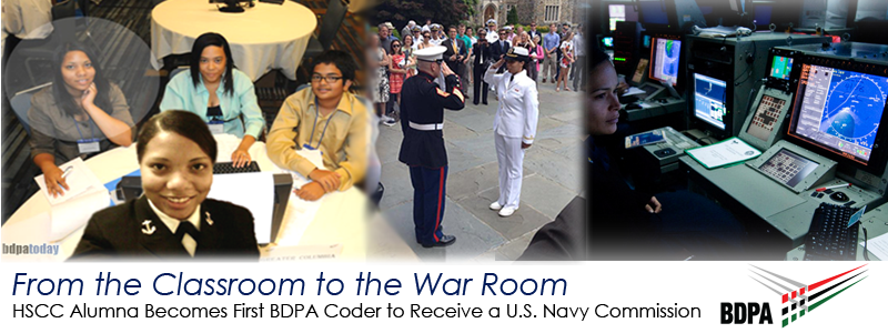 Select here for video featuring Ensign Raven Stevenson, U.S. Navy | BDPA HSCC Alumna